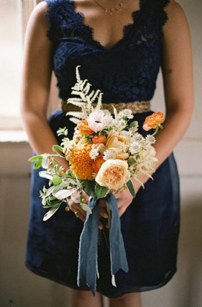 Beautiful bridesmaid bouquet: http://www.stylemepretty.com/2015/03/31/whimsical-marin-headlands-center-for-the-arts-wedding/ | Photography: Em the Gem - http://emthegem.com/