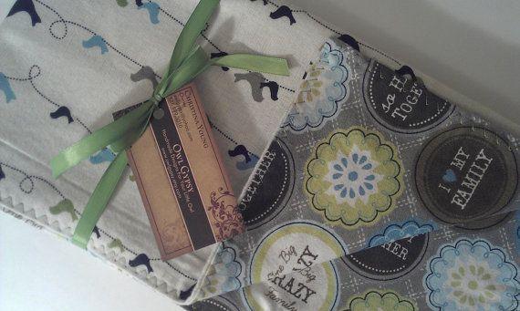 Receiving Blanket. Gender Neutral Baby Blanket.