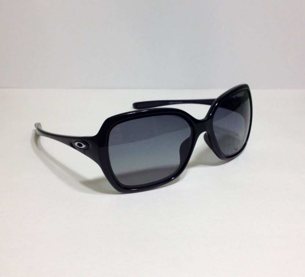 91553a91d31 Oakley Overtime OO9167-16 Polarized Sunglasses Polished Black w  Gray  Gradient…