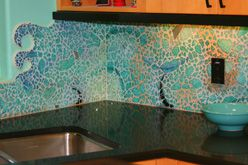 another zoe mosaic design piece with tempered glass