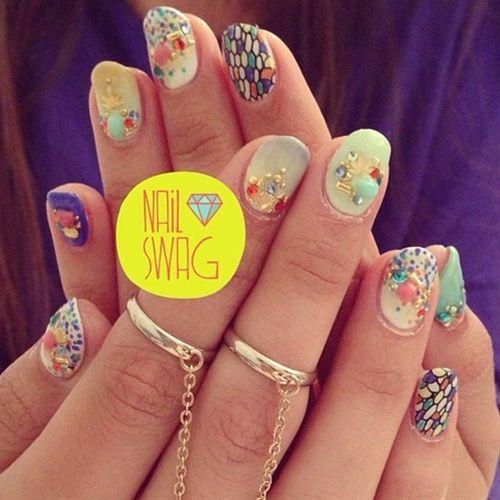 THE HYBRID NAIL for Miranda! #nailswag #nails #nailart ...