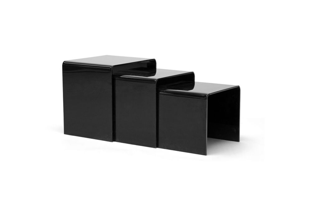 Acrylic Black Table 3-Pc Table Set Display Stands | Wholesale Interiors  sc 1 st  Pinterest & Acrylic Black Table 3-Pc Table Set Display Stands | Wholesale ...