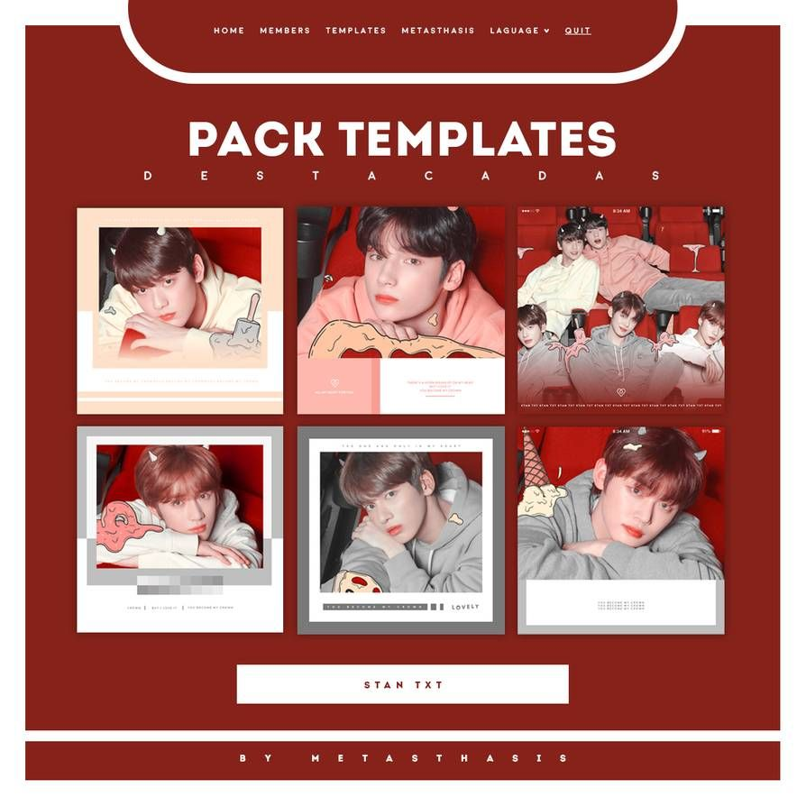 Pack Templates Para Destacadas. By Https://www.deviantart