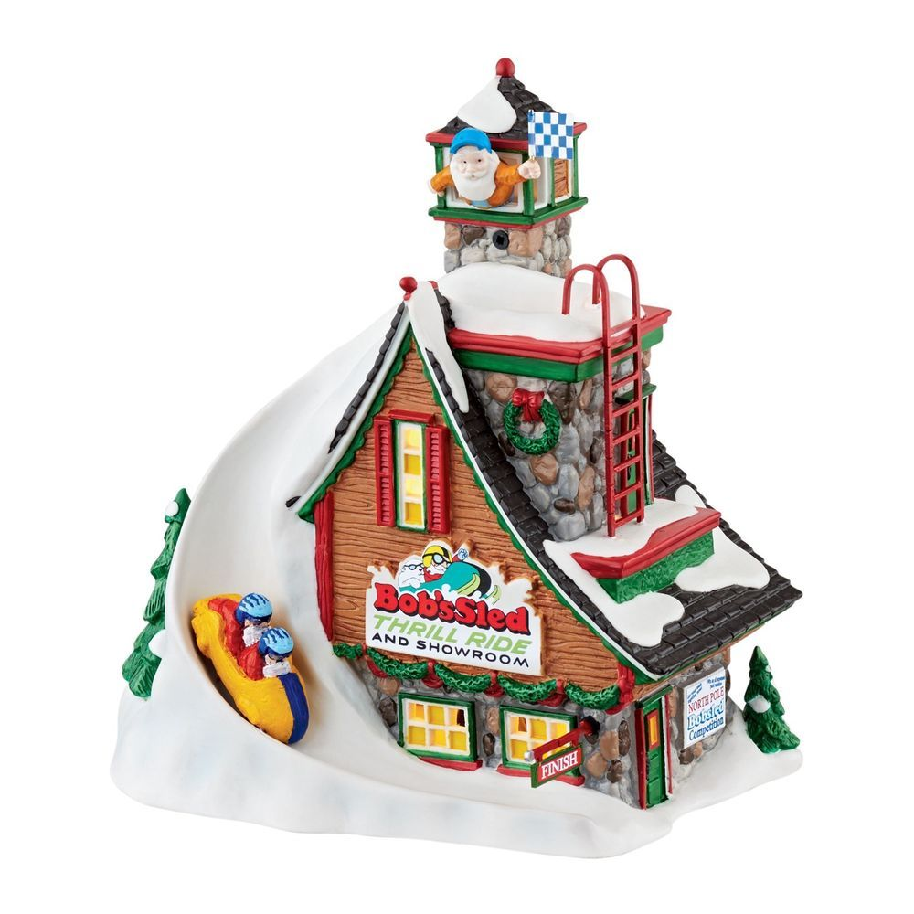 Dept 56 North Pole Lighted Building BOB'S SLED THRILL RIDE 4044838 New 2015