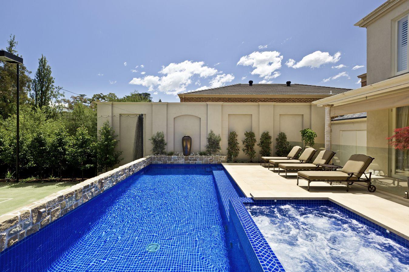dark pool tiles - Google Search | Pools | Pinterest | Courtyard ...
