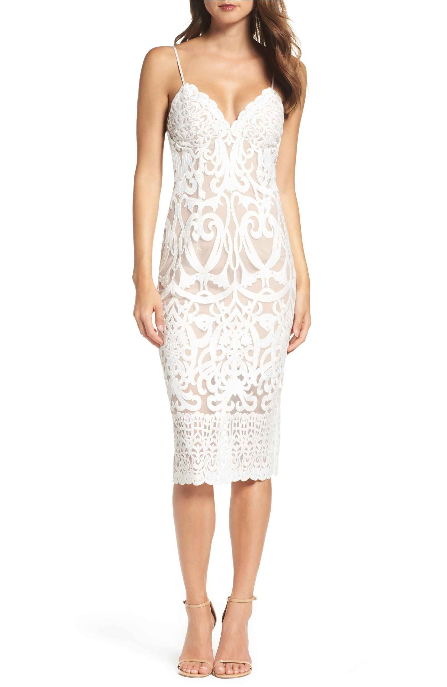 f9c1a06e63d208 Main Image - Bardot Gia Lace Pencil Dress | Lace, Sequins and ...