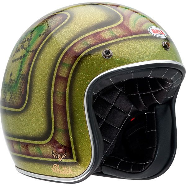 Bell Custom 500 Skratch Lace Open Face Helmets (CLOSEOUT) - Extreme Supply