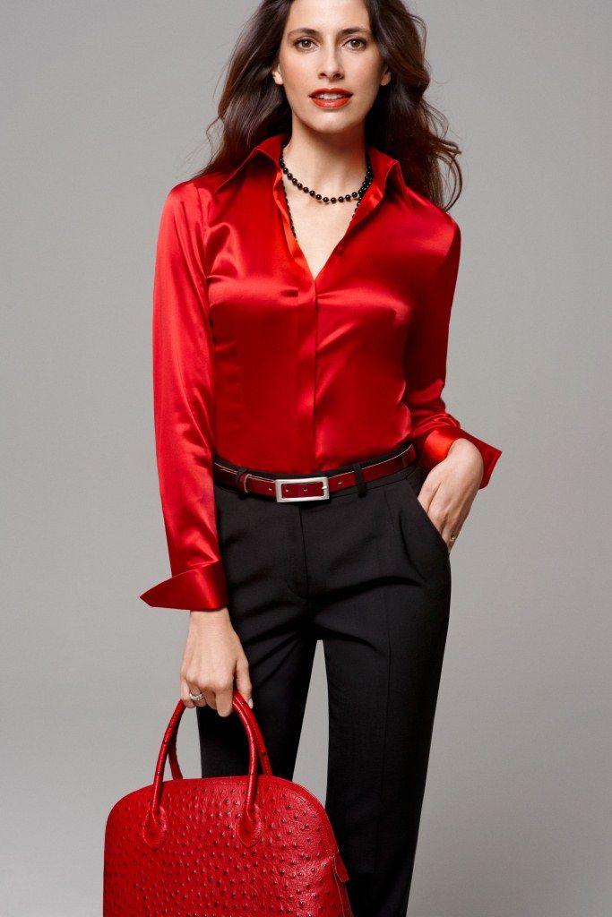Sexy silk blouse