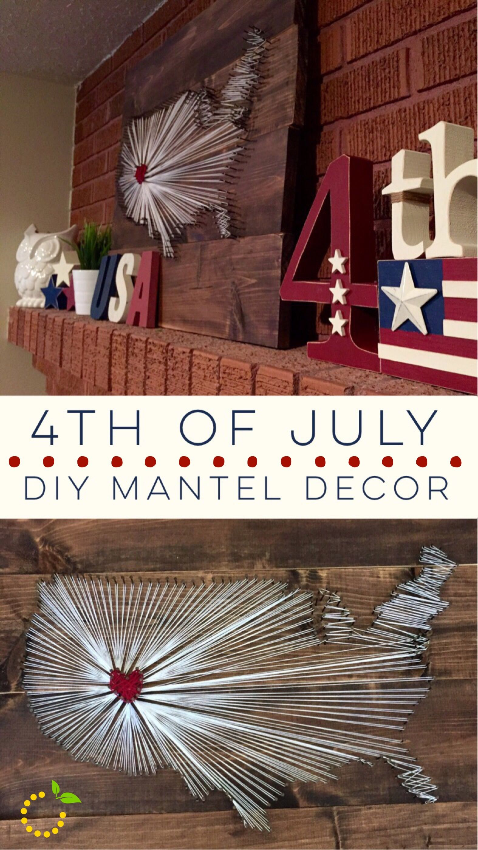 4th of july mantel decor craft ideas fourth of july decor 4th of july decorations july crafts. Black Bedroom Furniture Sets. Home Design Ideas
