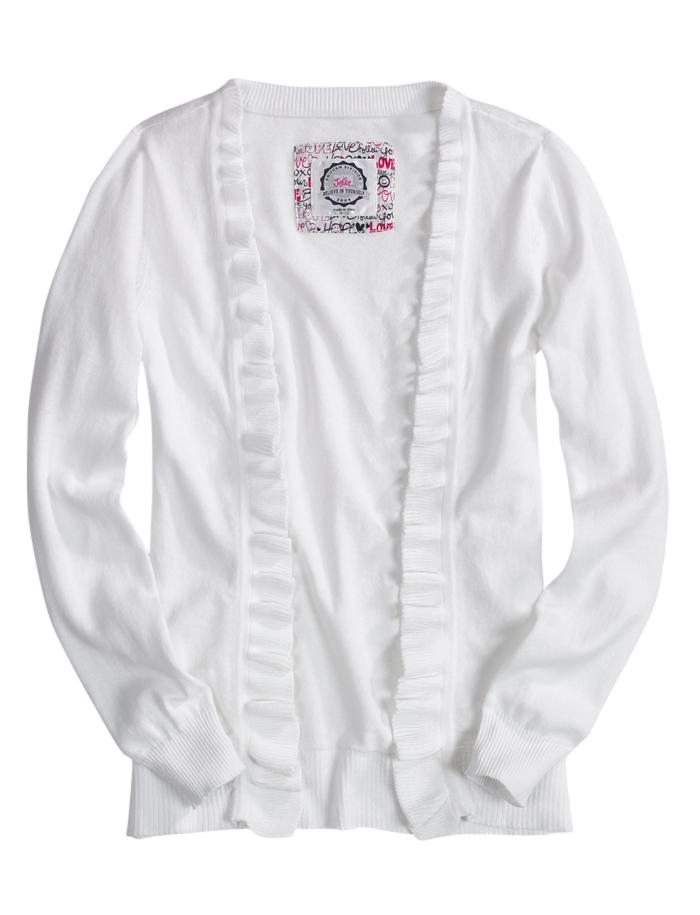 School Uniform Sweater Ruffle Cardigan | School Uniforms | Clearance | Shop Justice