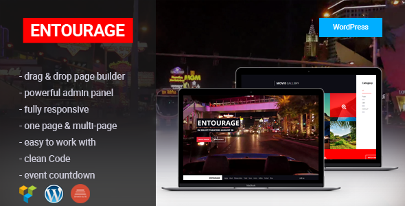 Entourage - Movie/Film/Cinema/TV WordPress Theme | Website-Templates ...