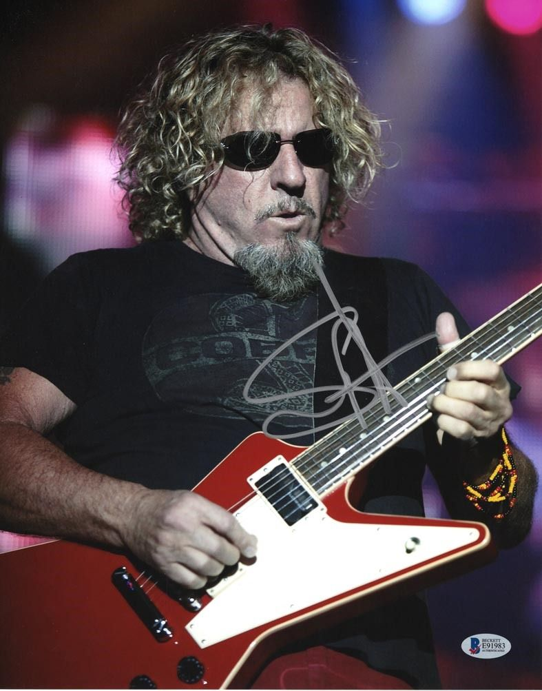 Sammy Hagar Signed 11x14 Photo Certified Authentic Beckett Bas Coa Em 2020