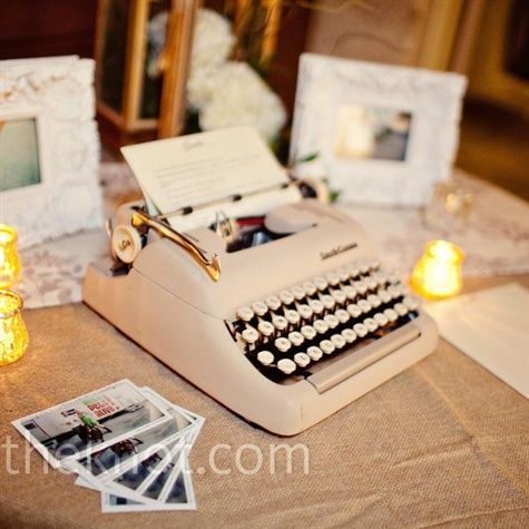 Have Your Guests Type Their Name And Sweet Wedding Wishes Then All Of The Pages Bound To A Vintage Inspired Guest Book Display On
