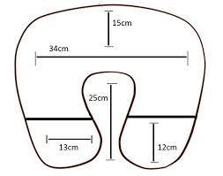 Resultado De Imagem Para Molde Travesseiro De Pescoco