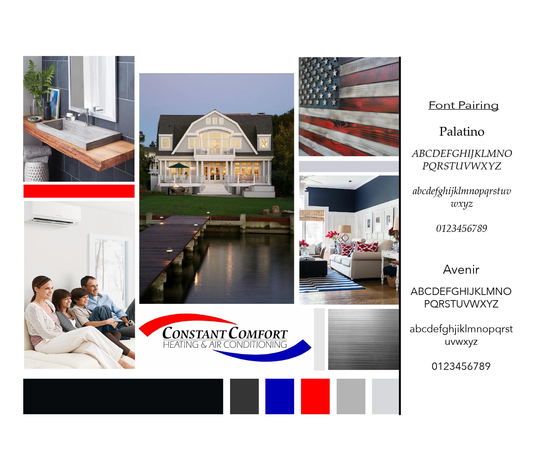 Constant Comfort Custom Website Design Branding Design