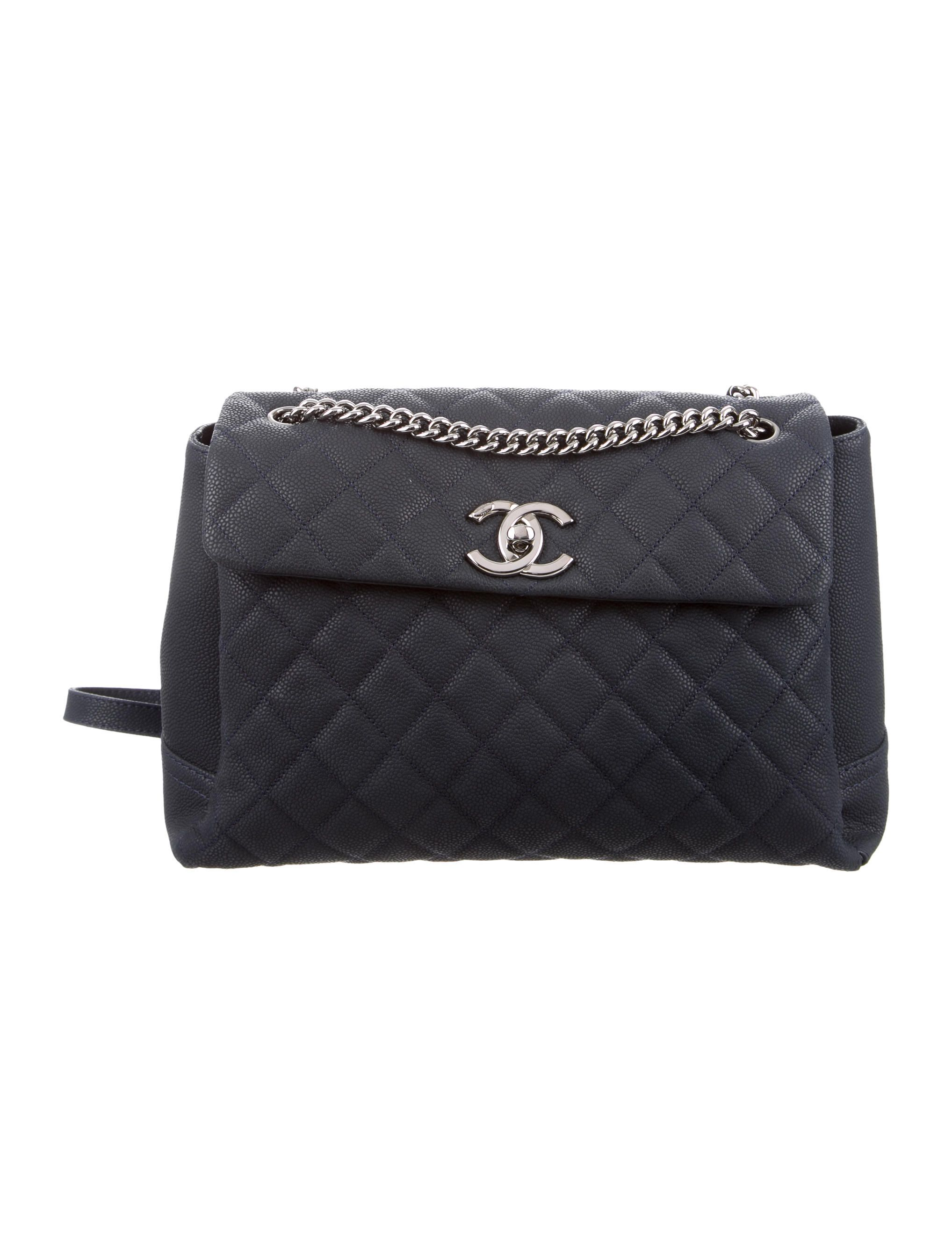 7bf85fd1dd75 Navy blue quilted caviar leather Chanel Lady Pearly Flap Bag with  silver-tone hardware,
