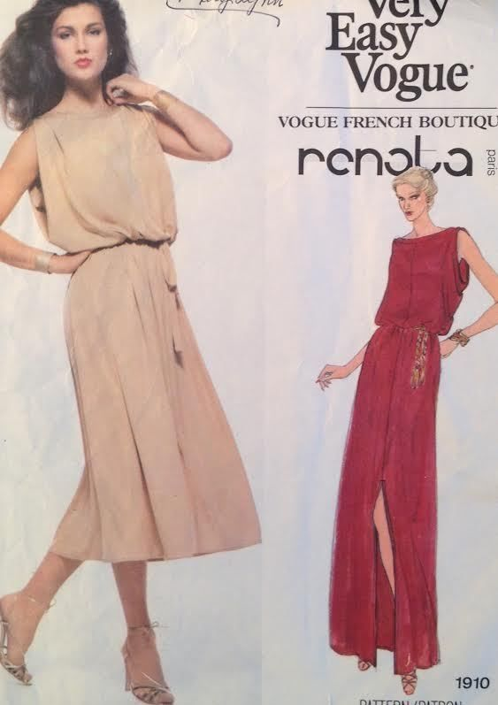 d5cd4a75a UC Vtg Vogue 1910 Sew Pattern Renata French Boutique Designer Maxi Dress  Easy 10