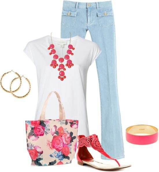 Red and jeans for summer