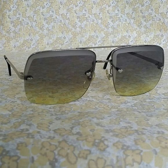 919c66d6c6f7c Chloe Vintage Dead Stock Heart Accent Sunglasses Rare Mint Like New ...