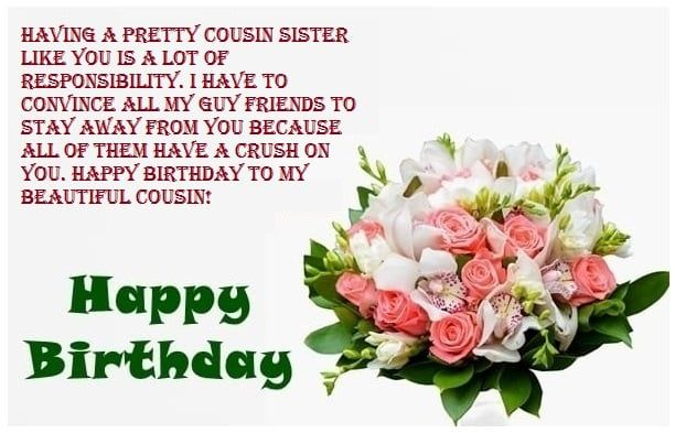 Great Inspiration Message For Cousin Sister Birthday Happy