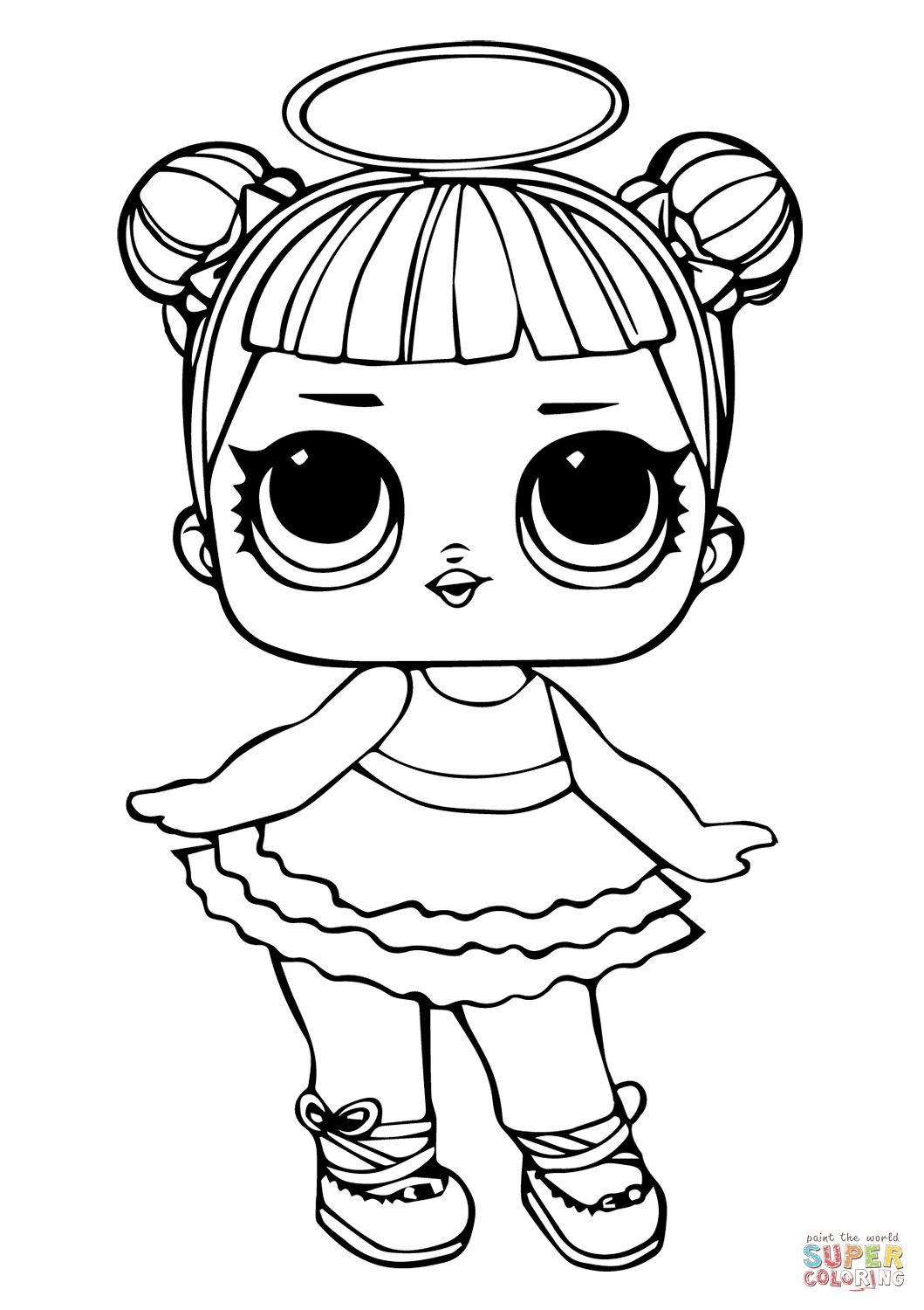 - Lol Coloring Pages Lol Surprise Doll Rocker Coloring Page Free