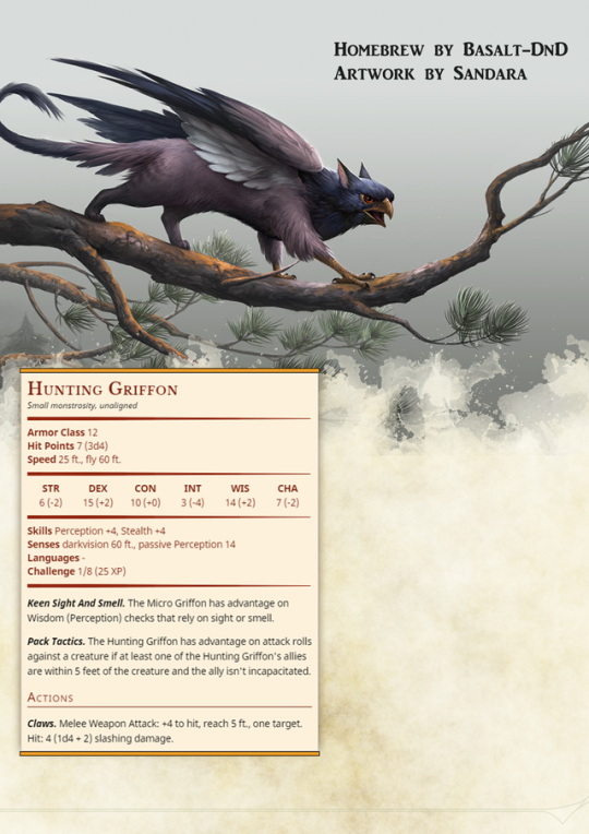 Tiny griffons for all of your animal companion or    | Pathfinder