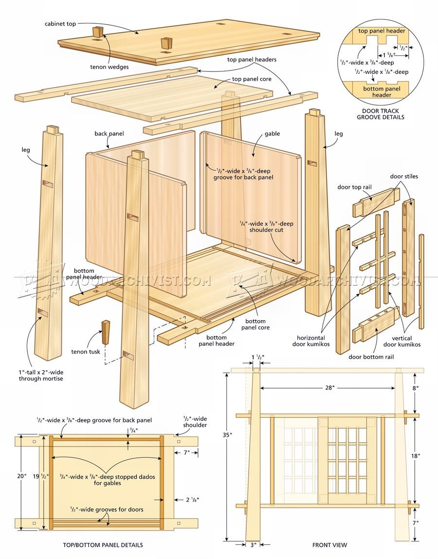 japanese furniture plans. #592 Japanese Cabinet Plans - Furniture Pinterest