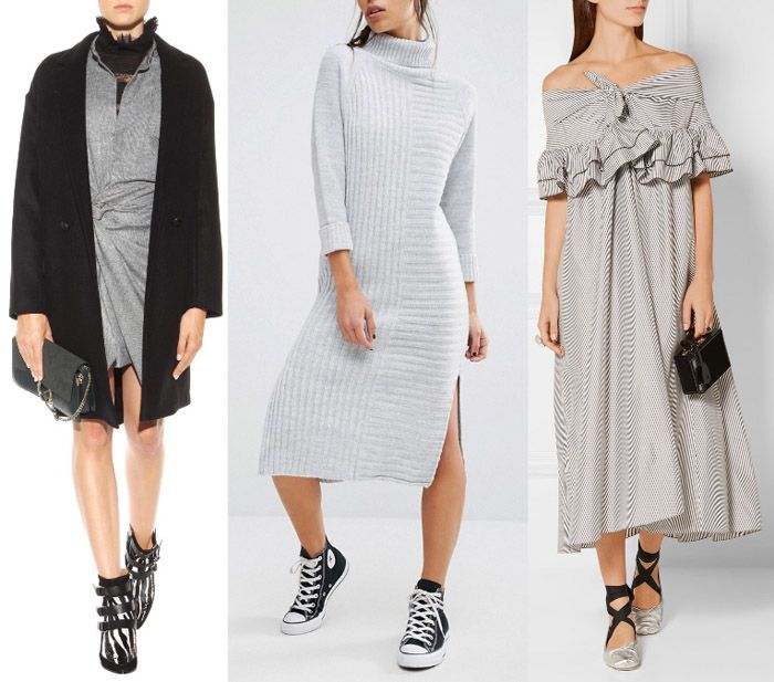 what colour shoes to wear with grey dress