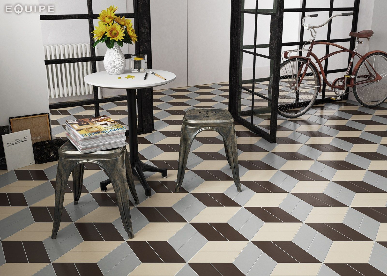 Chevron wallfloor tiles by equipe ceramicas bathroom chevron wallfloor tiles by equipe ceramicas dailygadgetfo Image collections