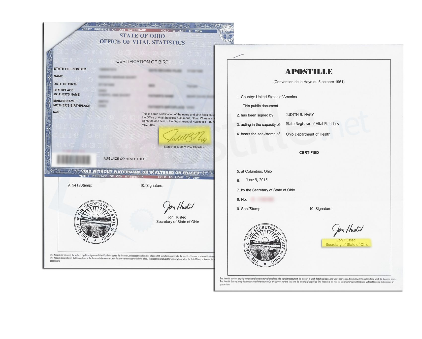 State of ohio apostille issued by jon husted secretary of state of state of ohio apostille issued by jon husted secretary of state of a birth certificate issued aiddatafo Images