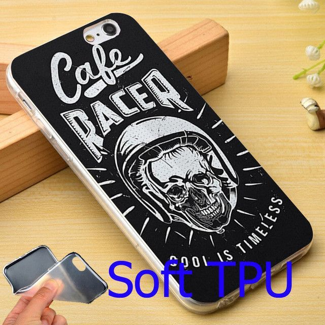 Cafe Racer Hard White Phone Case for iPhone
