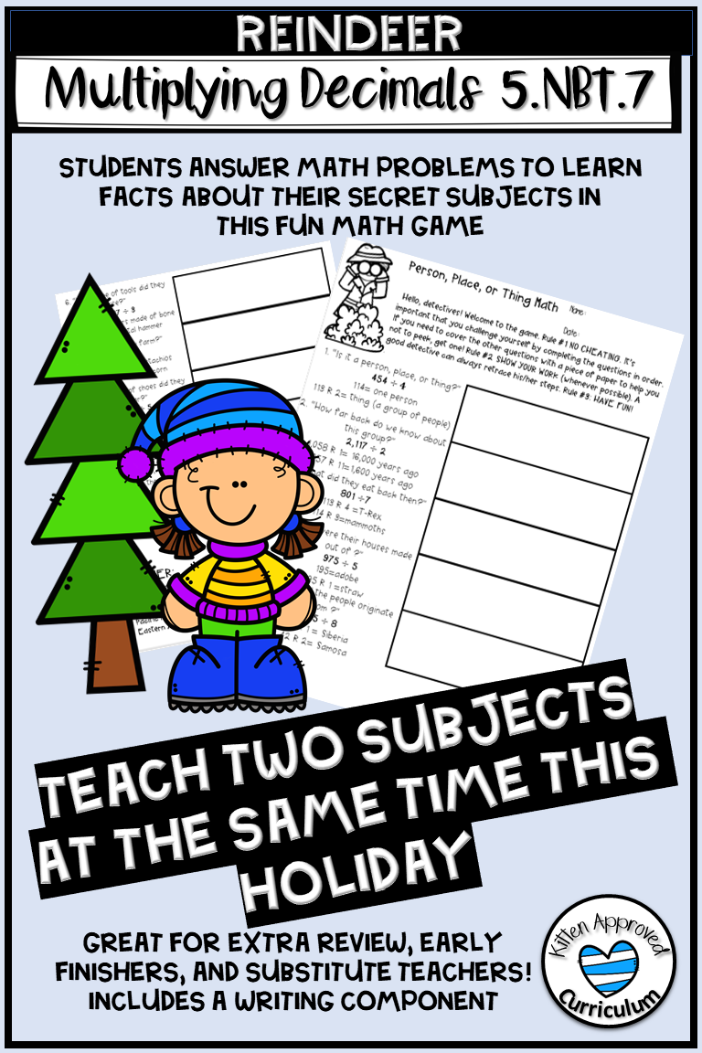 Your 5th Grade Class Will Love This Holiday Worksheet This Cross Curricular Lesson Te Christmas Math Worksheets Small Group Math Activities Free Math Activity [ 1152 x 768 Pixel ]