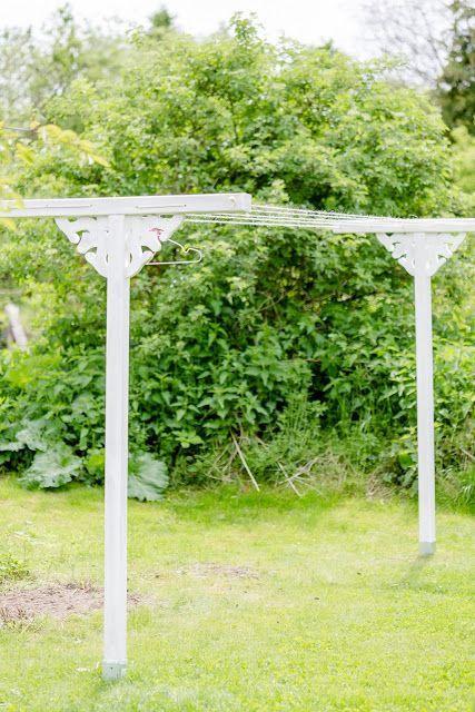 Nostalgische Wascheleine Aus Holz Selbstgemacht Pomponetti Wascheleine Gartenparadies Garten