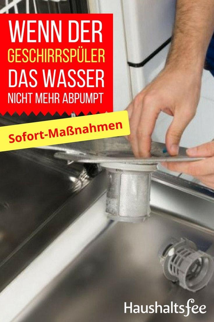 Wasser steht in der Spülmaschine, was ist zu tun | Spülmaschine ...