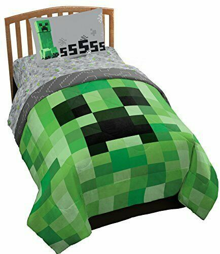 Minecraft 4 Piece Twin Bed Set Jay Franco Mojang Includes