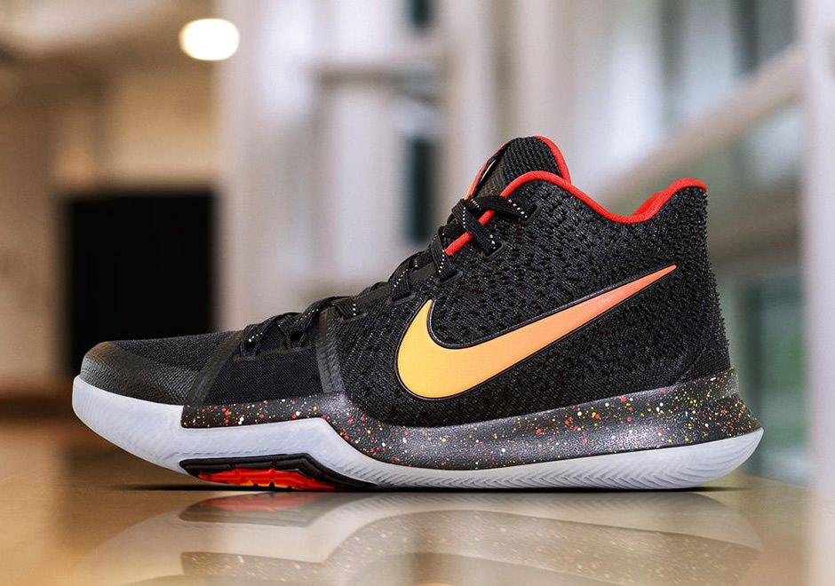 Nike Kyrie 3 Black Red Yellow PE | SneakerNews.com
