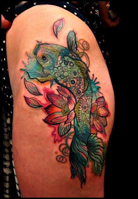 Kel Tait, Tattoo artist | Koi tattoo, Body art tattoos