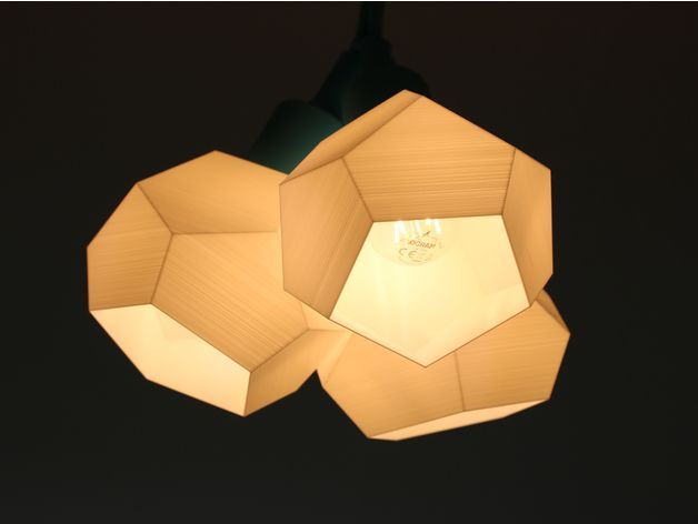 Customizable Lamp Shade By Sasdensas Thingiverse Lamp Shade Lamp Geometric Lamp