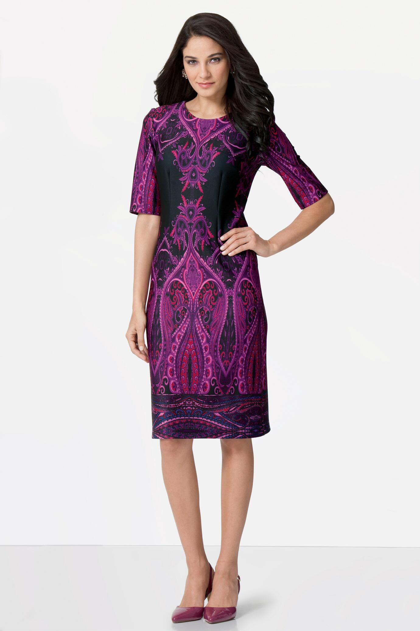 Mirror Print Dress: Unique & Bold Women\'s Clothing from #metrostyle ...