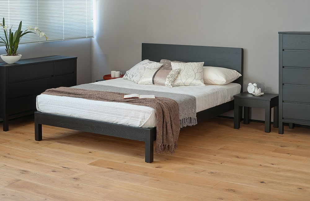 malabar black contemporary wooden bed detail Beds Pinterest