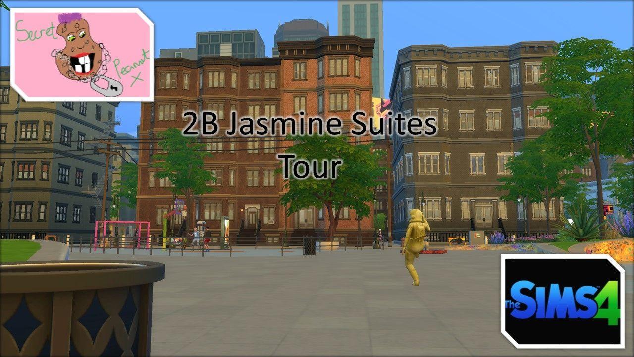 The Sims 4 City Living 2b Jasmine Suites Tour Sims 4 City Living City Living Sims