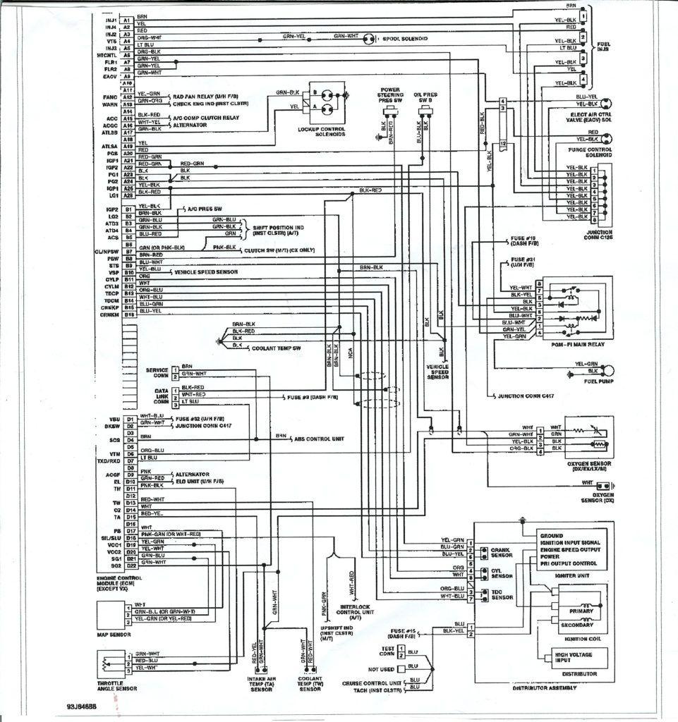 97 civic cluster wiring diagram