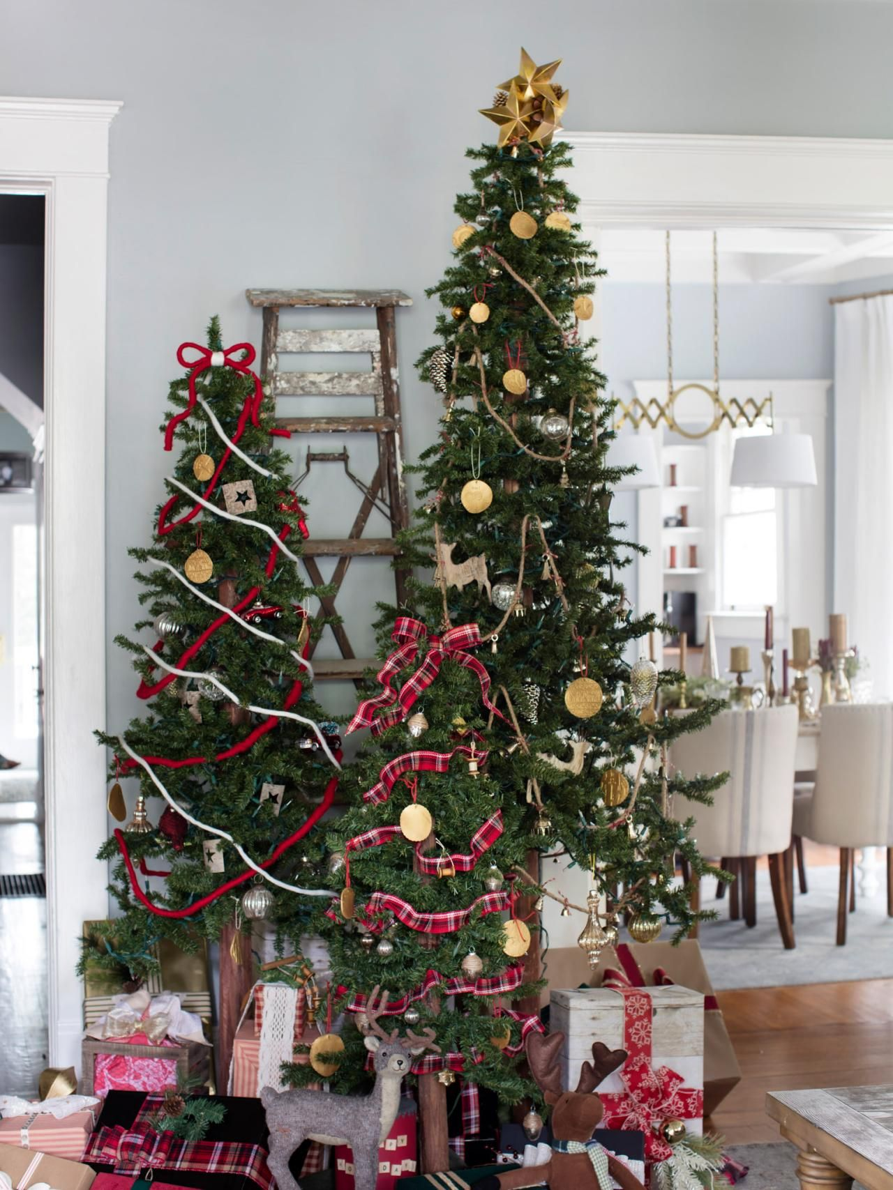 how to decorate multiple christmas trees holiday house christmas christmas tree forest. Black Bedroom Furniture Sets. Home Design Ideas