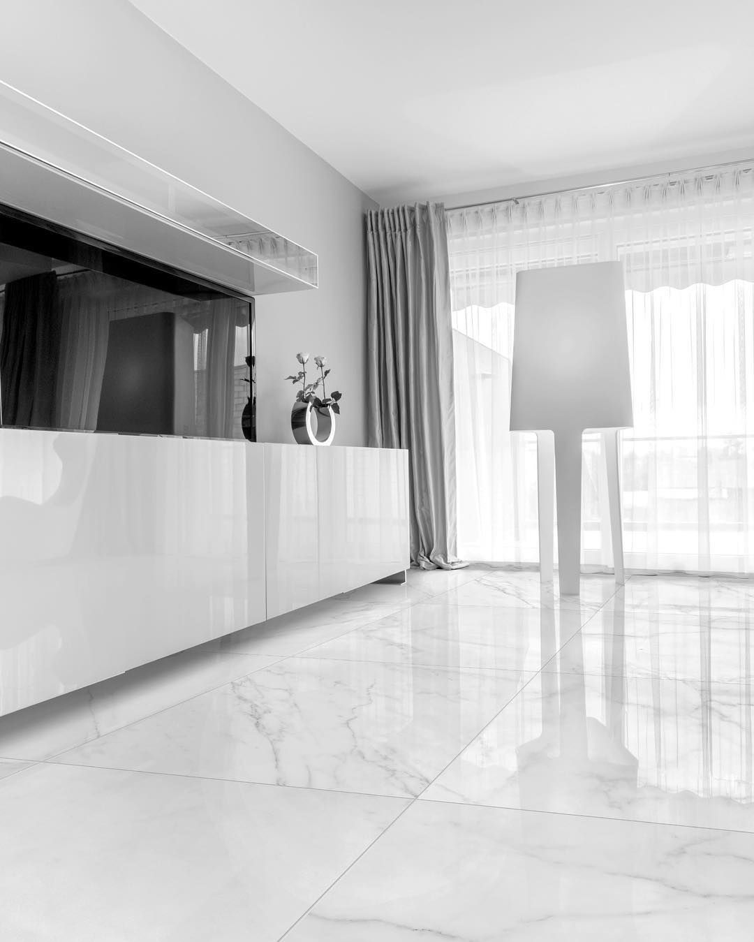 Verona White The Cleanest Look Is Often The Most Elegant Living Room Tiles White Tile Floor White Marble Floor