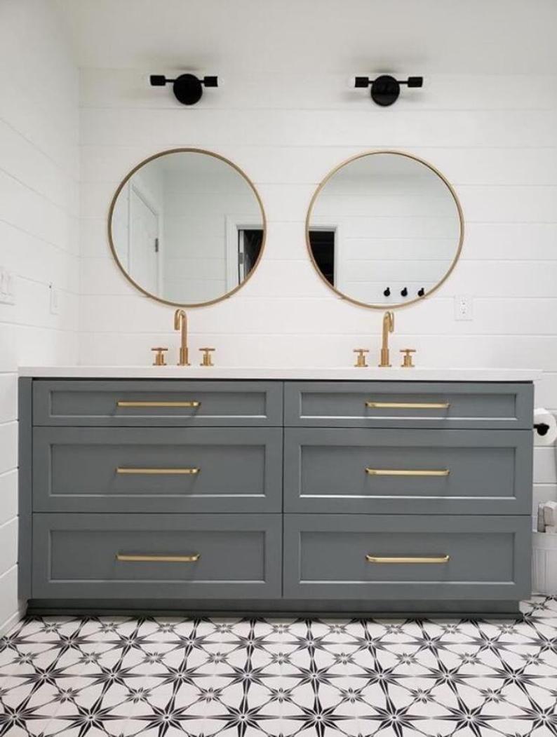44+ Bathroom cabinet hardware gold modern type