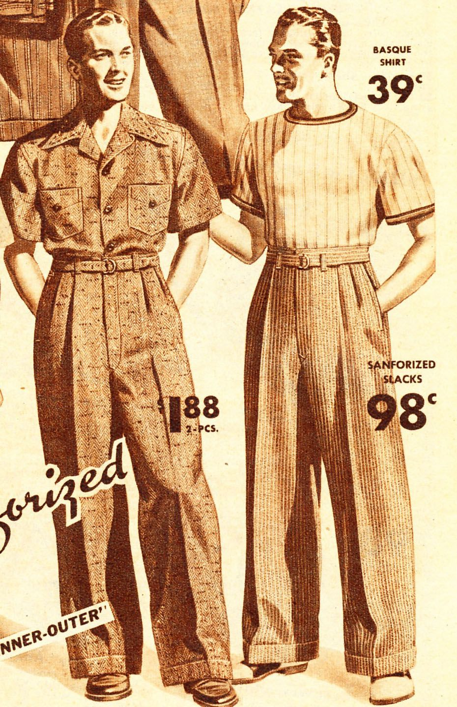 1940s men fashion