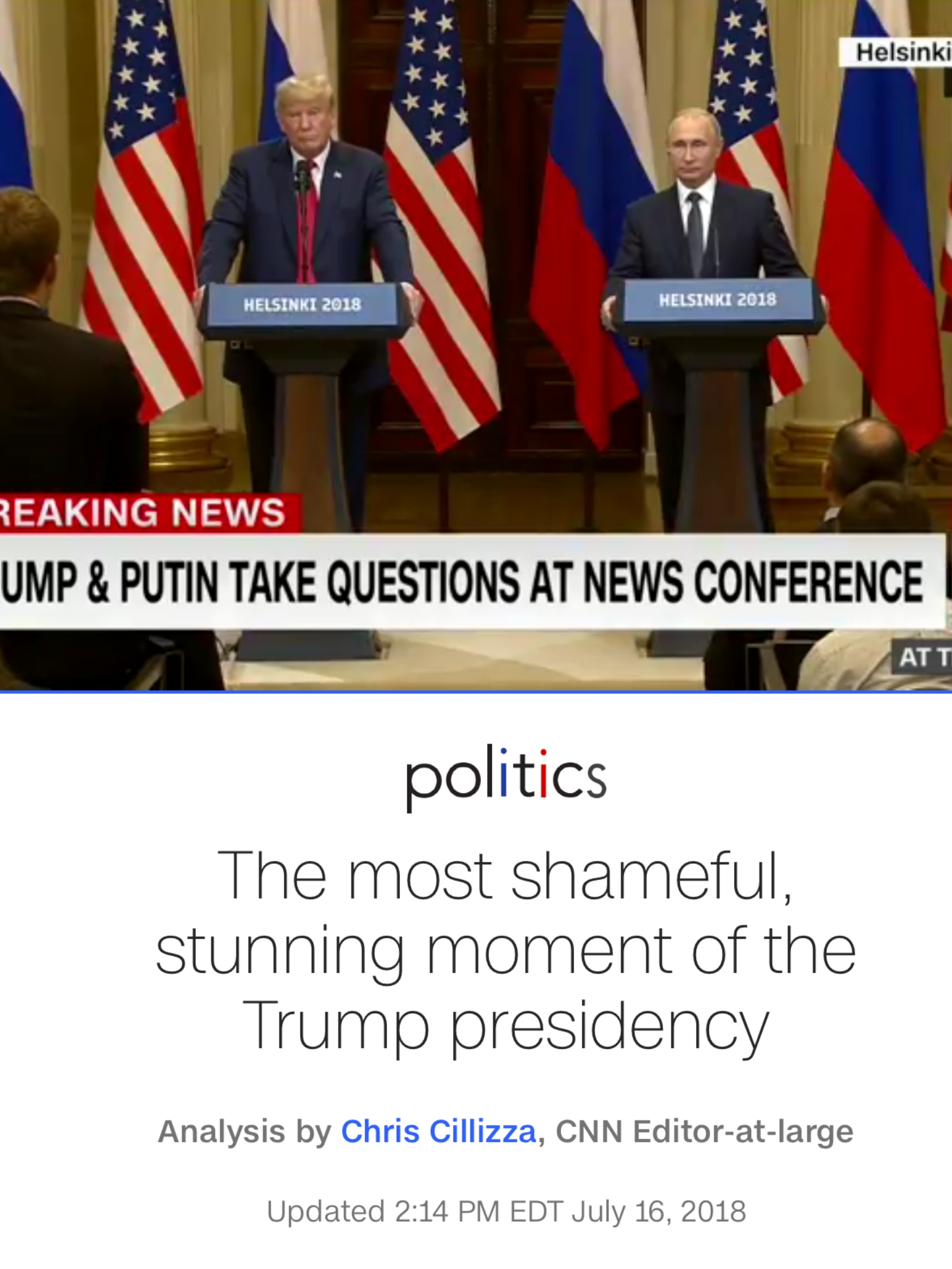 The Shameful Thing Is That He And Putin Stole The