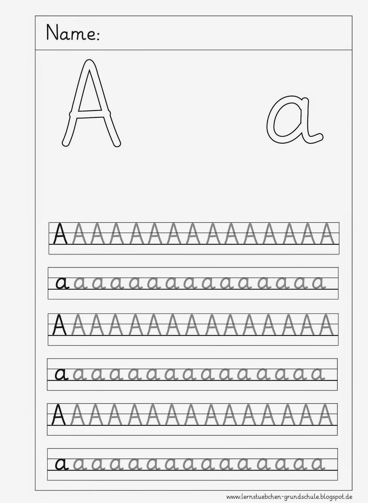 Arbeitsblätter Buchstaben Schreibschrift : Lernstübchen deu anfangsunterricht schulanfang