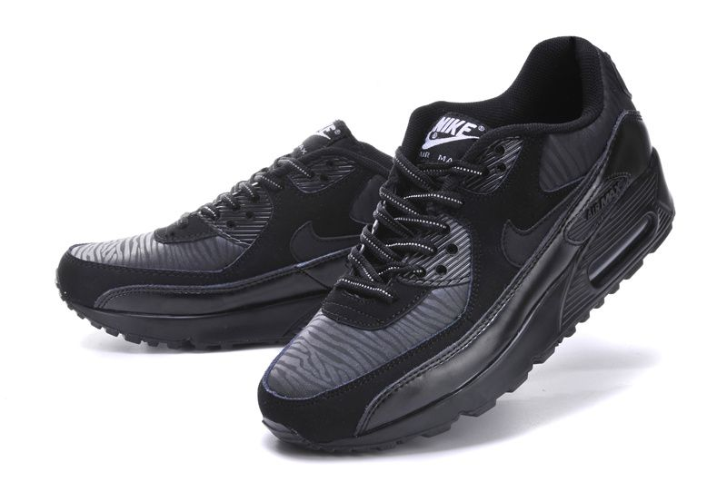 b75838e6eedd1 ... Nike Air Max 90 Womens 3M Reflective Black Tiger Black Silver ...