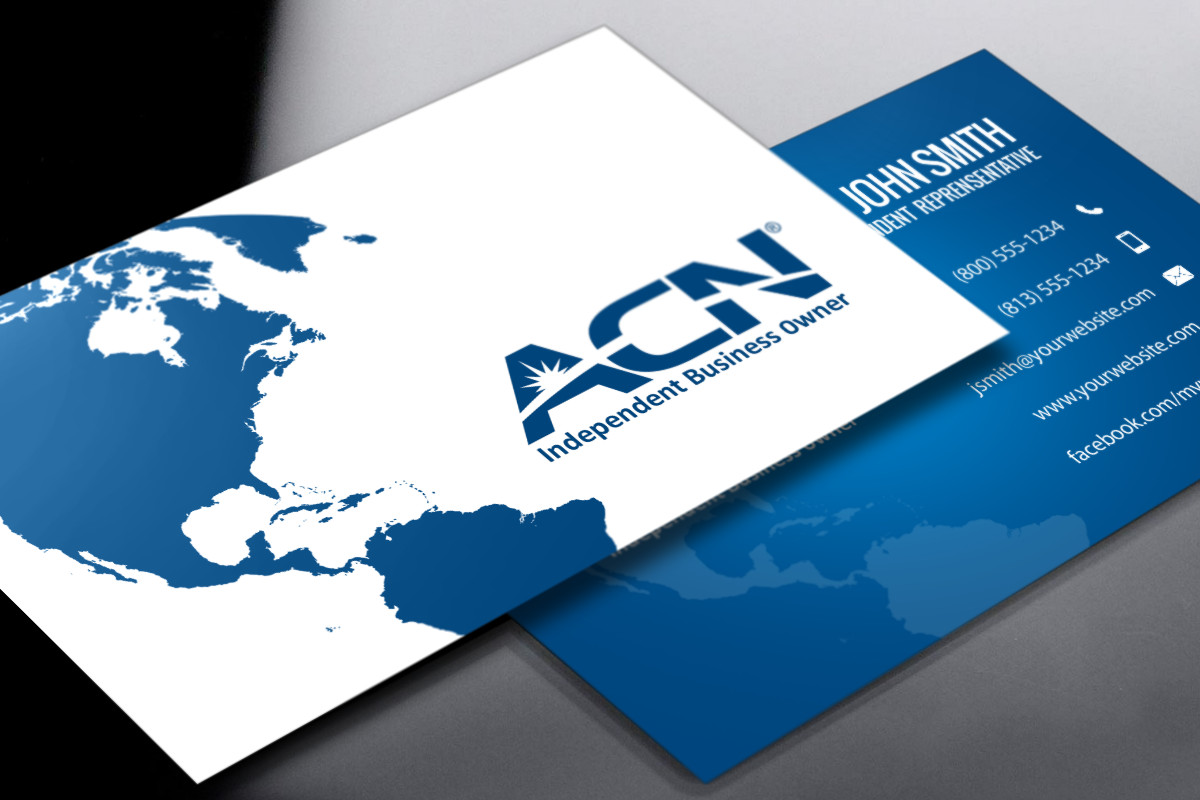 These Acn Business Cards Are Sure To Make A Memorable First Impression Mlm Acn Print Paper Graphicdesign Busine Free Business Cards Business Cards Cards